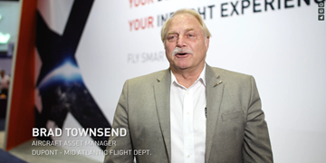 "Video: ""Business flies at the speed of DASH"" for the Dupont flight department"