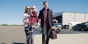 Video: How NASCAR driver Brad Keselowski stays connected to his family at 40,000 feet
