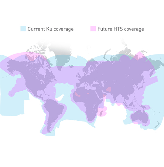 Gogo Ku coverage map